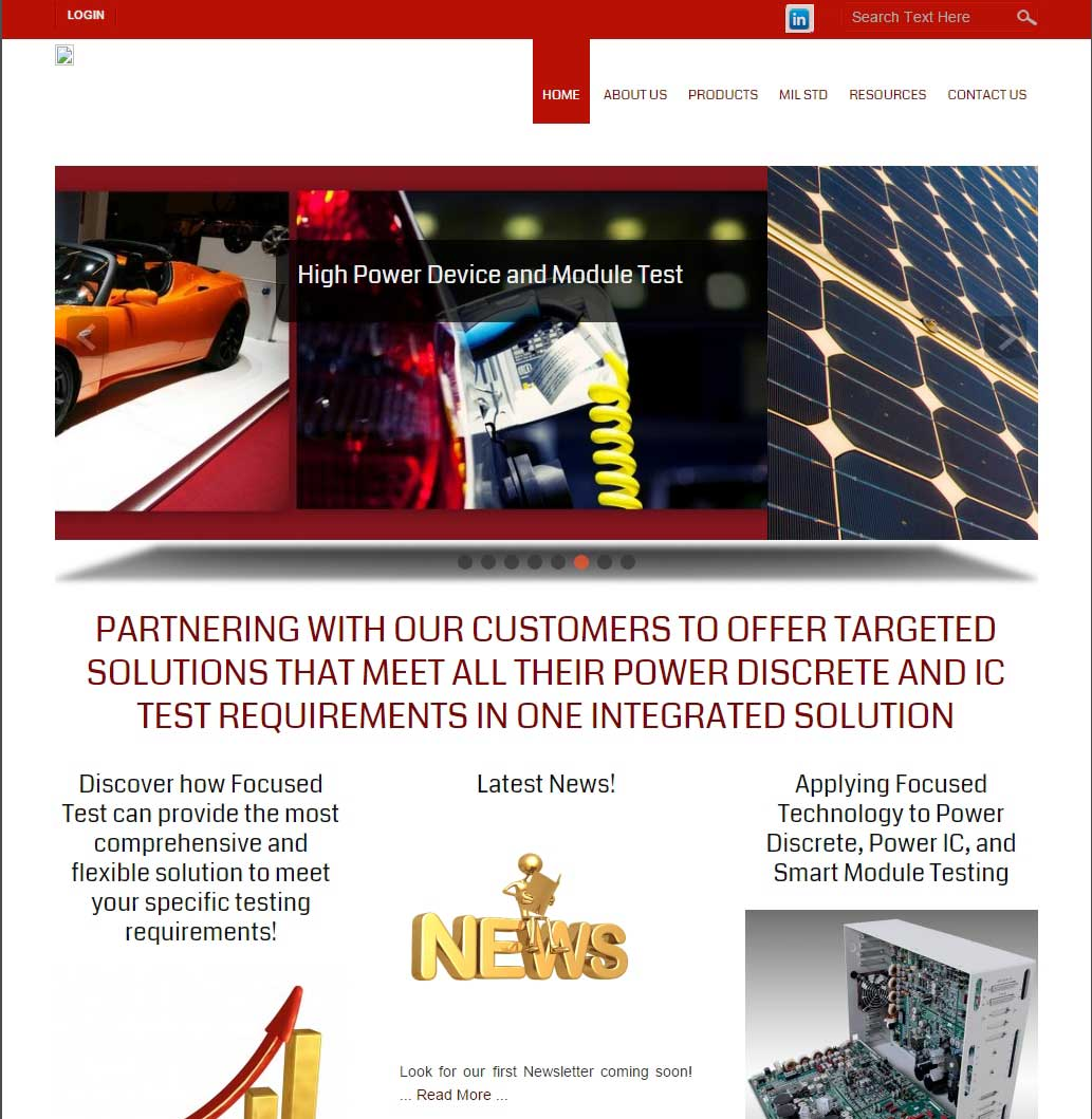 client Focused Test; high tech electronics website implementation