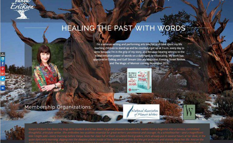 Visually Stunning Author Website